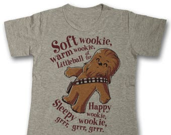 492547a0f Soft Wookie Warm Wookie Cult Print Ladies Fit T Shirt