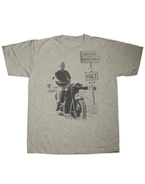Hoodie for Men Women The Great Escape Steve McQueen Preshrunk 100/_ hand made silk screen T shirt