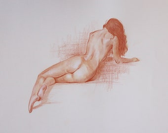 Sanguine figure | Nude | Reclining figure