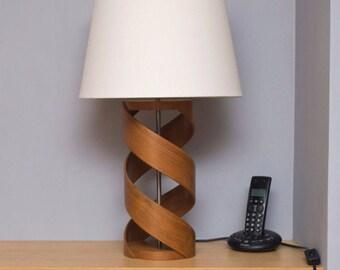 Lamp base etsy wooden table lamp lamp base walnut lamp table lamp bedside lamp aloadofball Gallery