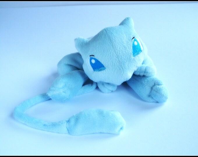 Pokemon Mew Blue Handmade Pocket Plush