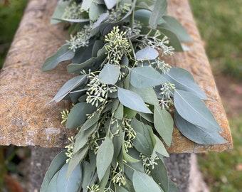 Eucalyptus Garland, Fresh Wedding Garland, Wedding Flowers, Greenery Garland, Wedding Backdrop, Greenery Backdrop,  Aisle decor,