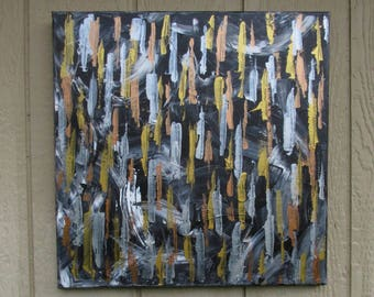 Mixed Metals Abstract Painting