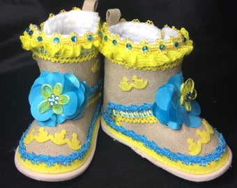 Just Ducky Girl's Boots 6-9 months