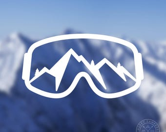 Mammoth Skier vinyl sticker decal skis skiing snow mountain park truck SUV car