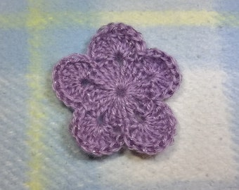 Crochet Motiv Blume Set Von 3 Blumen Häkeln Etsy