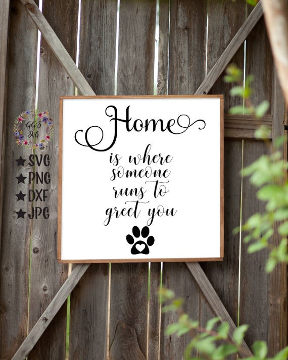 Home is where someone runs to greet you svg dog lover svg etsy m4hsunfo