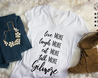 Live More, Laugh More, Eat More, Talk More, Gilmore, Gilmore Svg, Gilmore Girls SVG, Lorelai Svg, Cutting Files, Svg, Png,Cricut, Silhouette