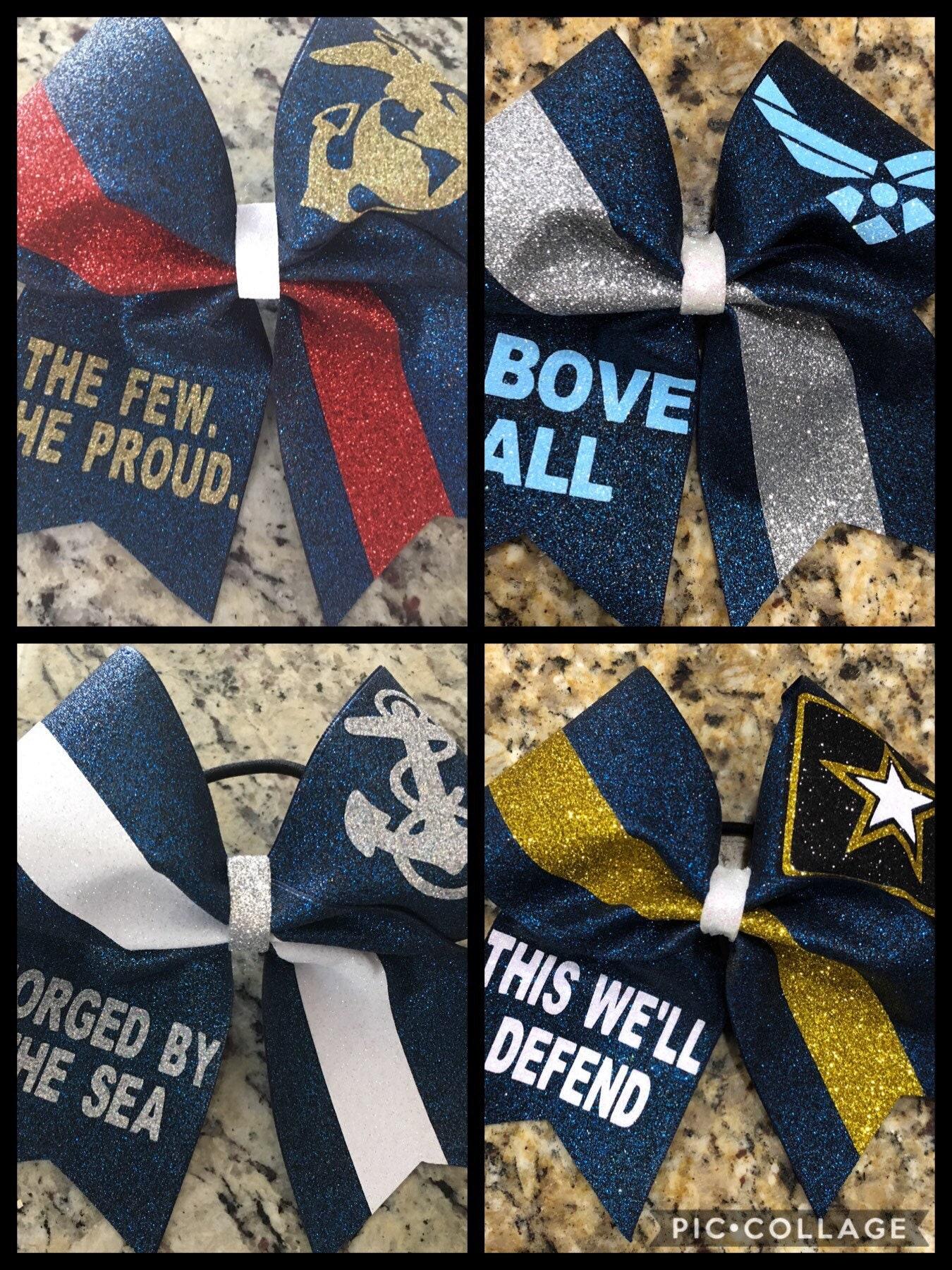 Army Hair Bow