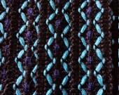 Vintage Roll of Aero Dress Making Braid, Blue Zig-Zag Pattern, 5 Metre Length width 1cm