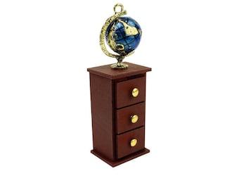 DIY miniature Chest of Drawer kit (globe)