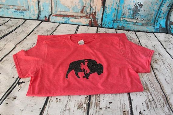 Wyo Buckin' Horse & Buffalo Tee