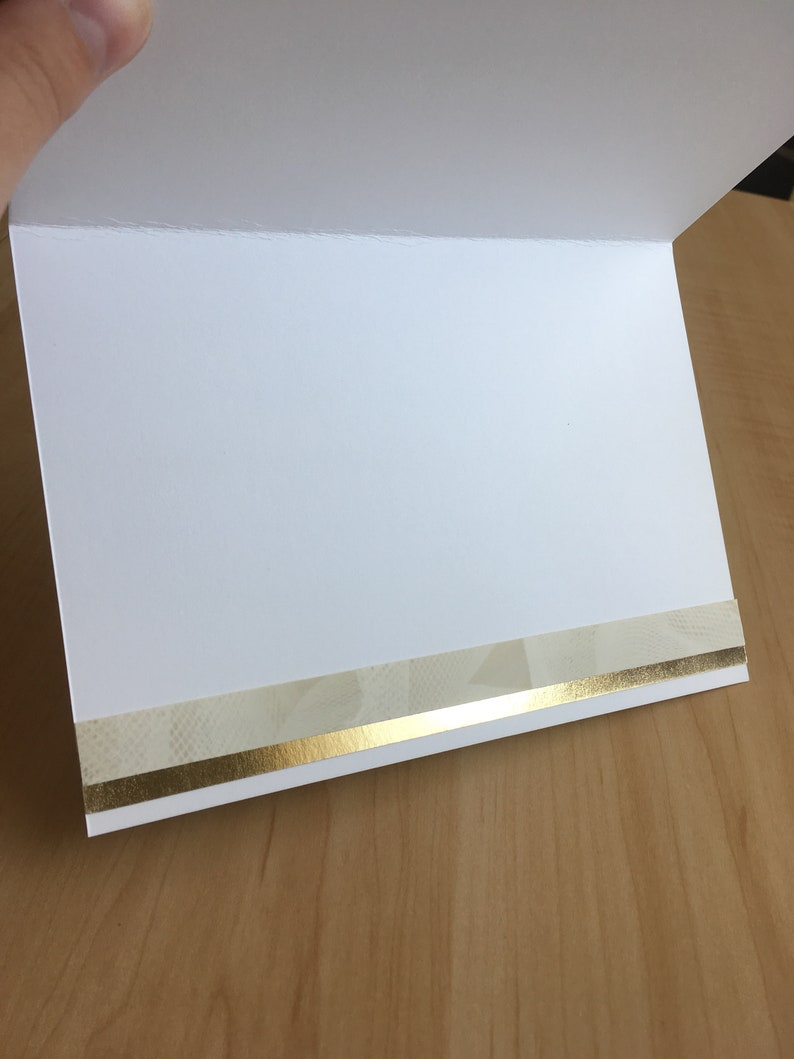Groom /& Groom Same-Sex Handmade Wedding Card with Gold Metallic Accents