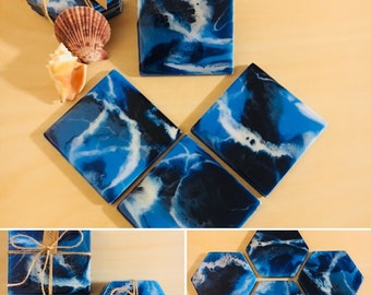 IT'S STORMY: Ceramic Tile Coasters