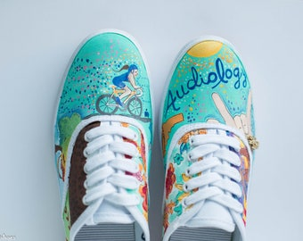 JEMBYO Hand Painted Shoes
