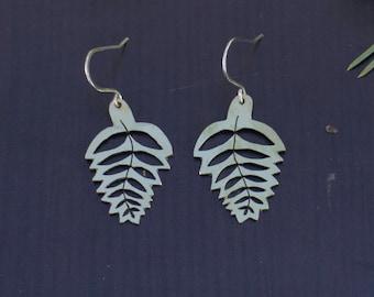 Brass Fern Earrings