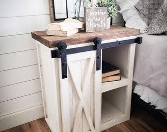 rustic nightstand etsy. Black Bedroom Furniture Sets. Home Design Ideas