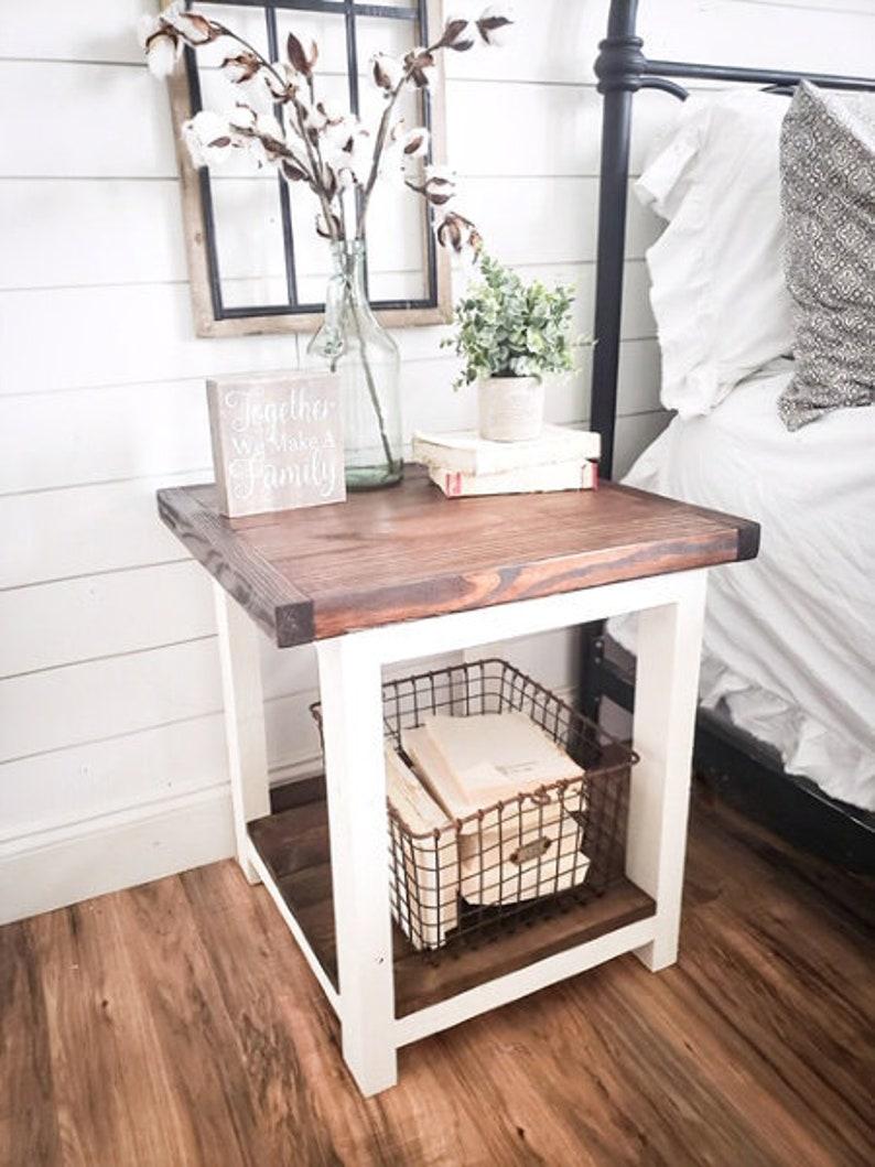 Aurora Farmhouse night stand wooden nightstand nightstand image 0