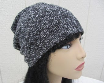 60e5ad9db18ee Black Tweed Slouch Hat