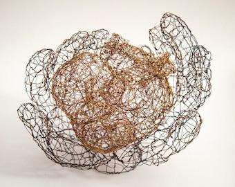 In His Hands | Wire Sculpture