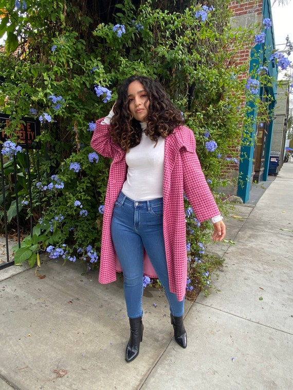 Pink plaid jacket/dress. Size:12