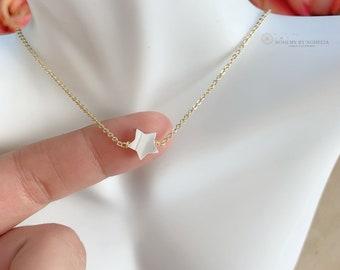 Star Pearl Necklace \u2022 Star Necklace \u2022 Pearl Necklace \u2022 Gold Layering Necklace \u2022 Birthday Gift \u2022 Gift For Her \u2022 Simple Jewelry