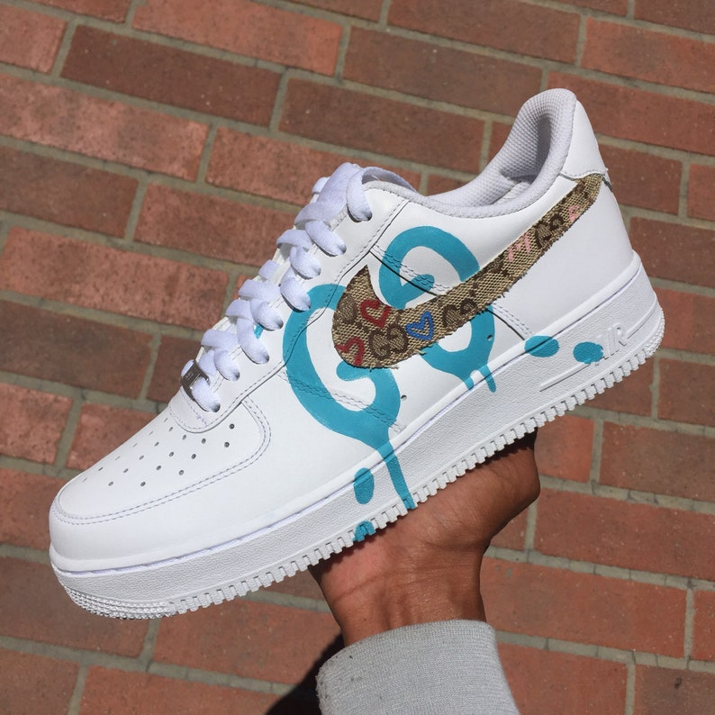 d78ac8c0ce7d4f RARE Custom Nike Air Force 1 Love GGhost Print