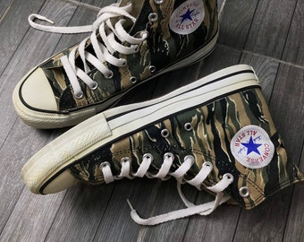 ff288bc63d1e Super rare 90s vintage Converse tiger stripe camouflage made in JAPAN
