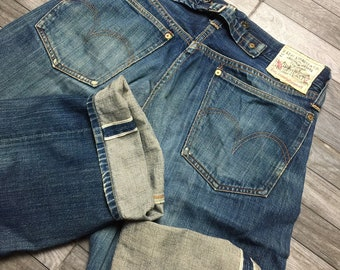 332e6c63149 Rare 90s vintage Levis 201 selvedge Made in USA kurt cobain jeans