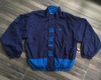 90 s vintage Nike bleu marine couleur de blocage très rare aae3b7d3cbc7