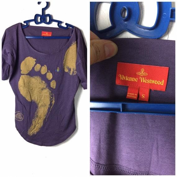 90s vintage Vivienne Westwood t-shirt purple color