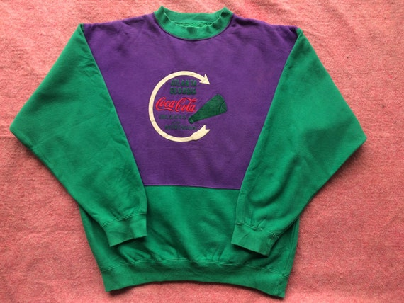 Super rare 80s vintage coca cola sweatshirt/multic