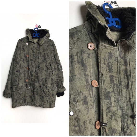 RARE vintage Camouflage parka jacket army