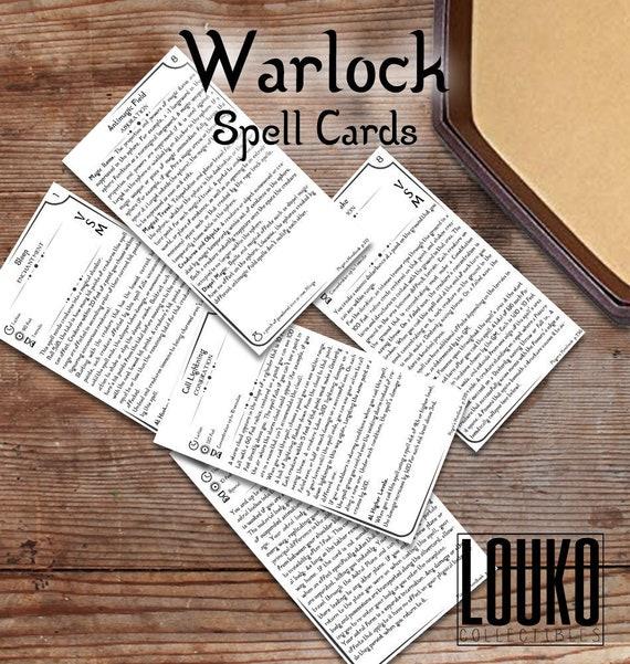 dnd warlock spells