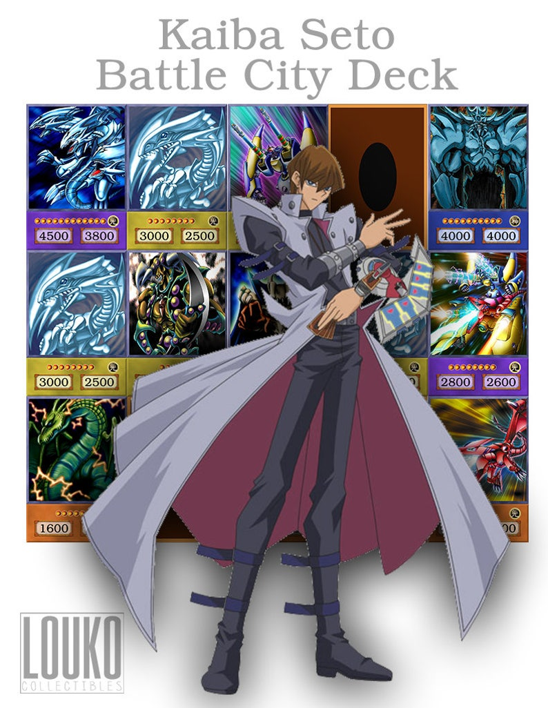 Yu Gi Oh Oricas Kaiba Seto Battle City Deck Free Shipping Etsy