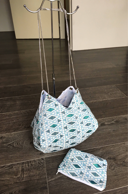 69db261d38e Handmade crossbody bag. Chain straps. Ibiza boho brocante tote | Etsy
