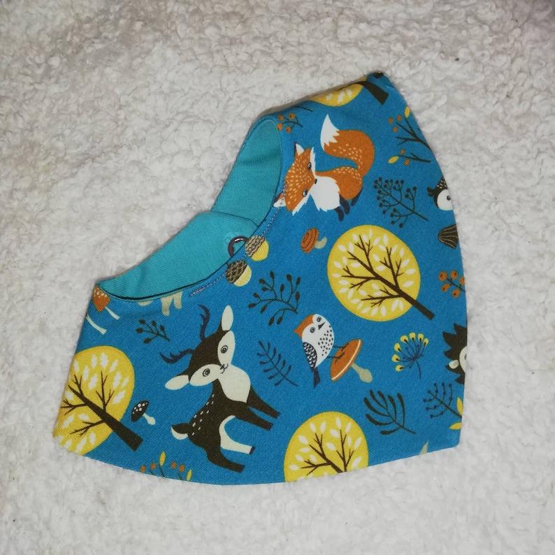 Neck scarf 0-1 year bib newborn girl boy baby scarf forest animals hedgehog bunny owl unisex