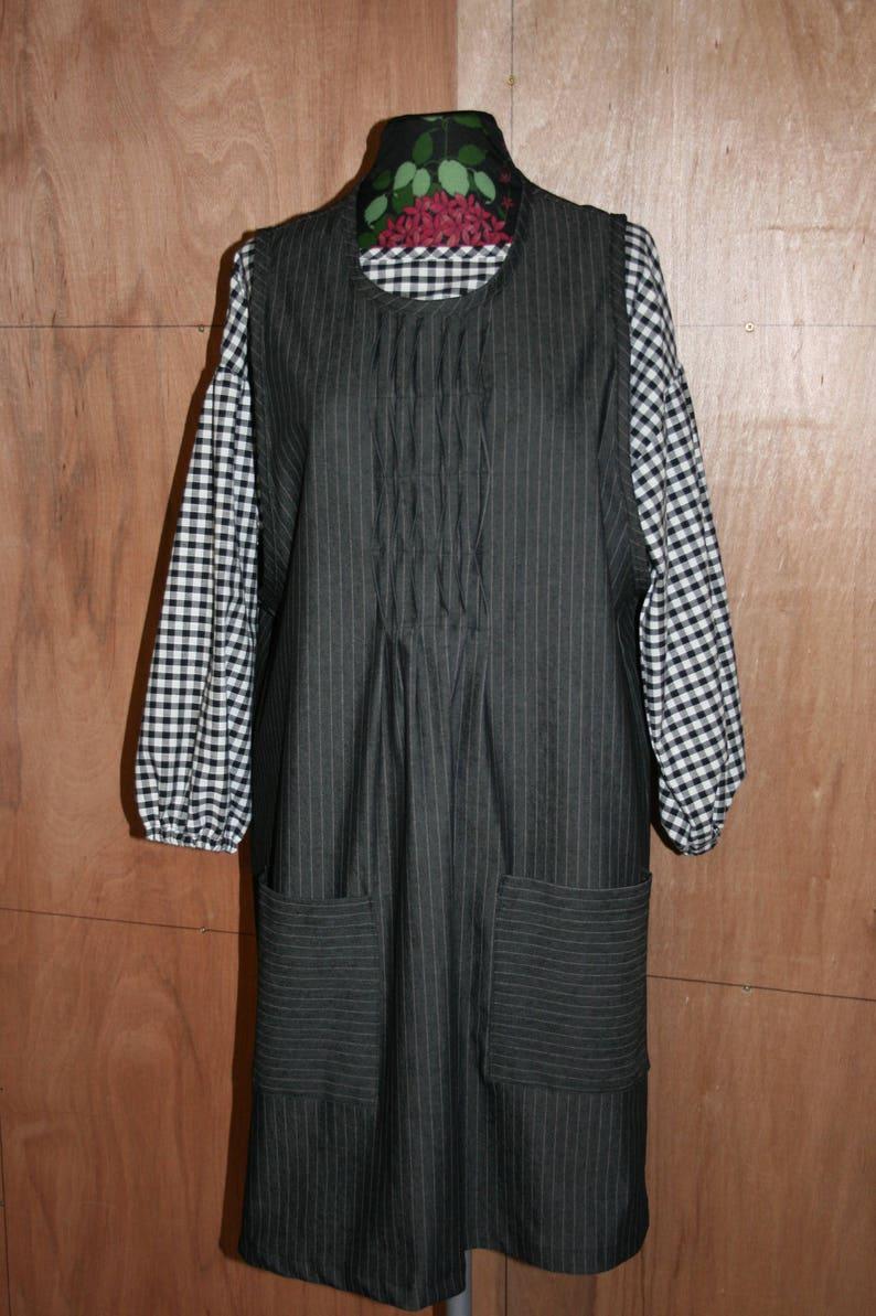 46376e4fca Denim pinafore dress  plus size dungaree dress jumper dress