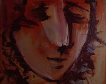 Painting. Acrylics. Portrait.
