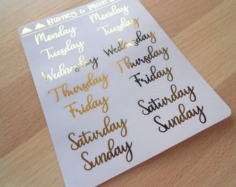 FOIL Date Covers | Days | Large | Planner Stickers