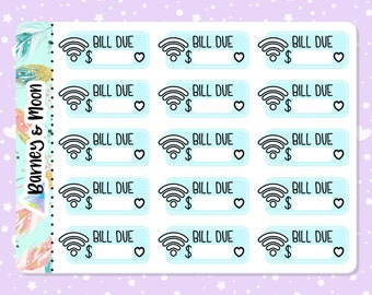 Wifi / Internet Bill Due   Budgeting Planner Stickers   Pay Reminder   Budget and Finance