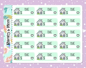 Rent   Mortgage   Insurance Bill Due   Budgeting Planner Stickers   Pay Reminder   Budget and Finance