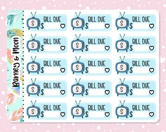 Stan Bill Due | TV Subscription | Streaming Service | Budgeting Planner Stickers | Pay Reminder | Budget and Finance