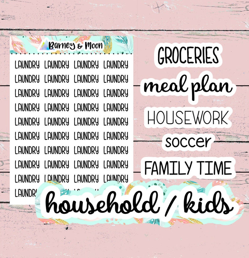 Planner Word Stickers  Clear  Premium Matte  Groceries  image 0