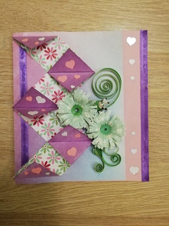 congratulatory card Grandmother/'s birthday card daughter Christmas custom quilling card wedding card new card