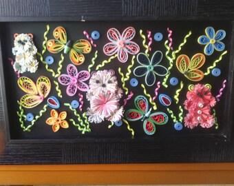 creating quilled flowers quilling door plaque, scrapboopking quilling personalized, gift