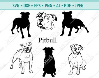Pitbull svg files | Etsy