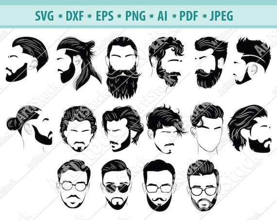 Beard Man Svg Beards Svg Beard Svg Beard Clipart Beard Man Etsy