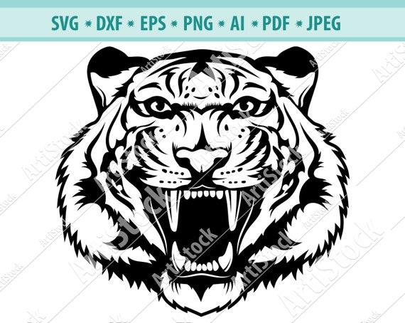 tattoo design svg cut file tiger printable tiger head svg tiger svg Tiger cutting file tiger cut file tiger clip art tiger vector