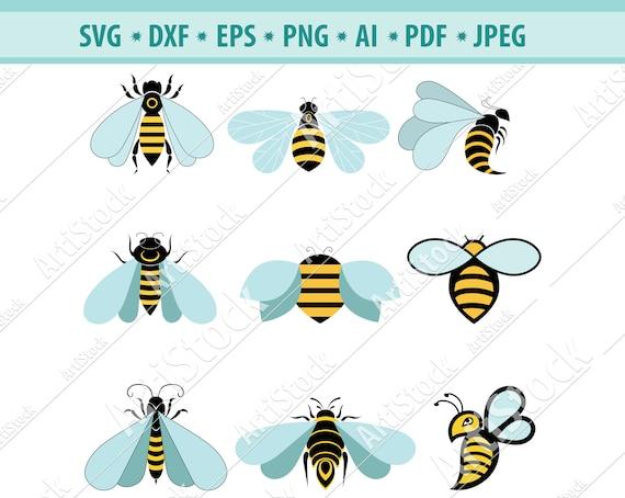 Abeille Svg Queen Bee Svg Svg Bee Clipart Abeille Fichiers Etsy